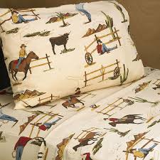 Cowboy Bed Set 4 Pc Sheet Set For West Cowboy Bedding Collection Only