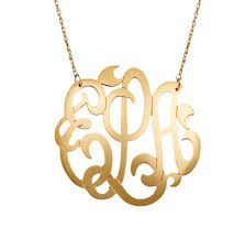 monogram necklace large gold filled lace monogram necklace be monogrammed