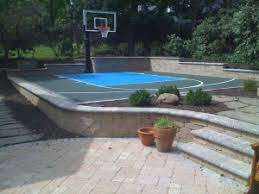 Basketball Court In The Backyard How Much Room Do I Need For A Backyard Multi Game Court Neave