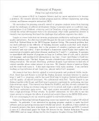 Statement Of Purpose Resume Statement Of Purpose Sample 9 Examples In Pdf Wordsample