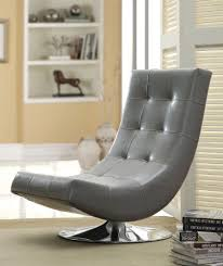 Armless Accent Chair Furniture Of America Dresden Leatherette Swivel Armless Accent