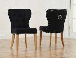 Black Dining Chairs Black Velvet Upholstered Dining Chairs