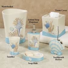 Beachy Bathroom Accessories by Bathroom Accessory Sets Touch Of Class