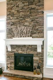 Stacked Stone Outdoor Fireplace - stacked stone fireplace images 2 story stone contemporary