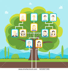 green family tree photo concept stock vector 605997398