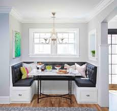 awesome breakfast room furniture features dark gray tufted dining