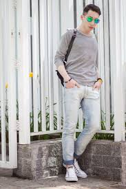 Light Colored Jeans Men U0027s Grey Long Sleeve T Shirt Light Blue Skinny Jeans White Low