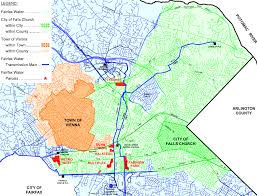 fairfax county map the water war between fairfax county and the city of falls church