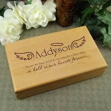 personalized keepsake boxes personalized memory box sympathy gift for loss of child