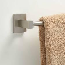bathrooms design brushed chrome towel bar double holder delta