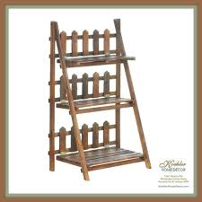 Wholesale Home Decore by Wholesale Product Spotlight Picket Fence Shelf Plant Stand