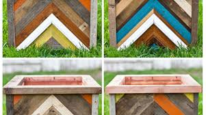 Recycled Wood by Recycled Wood Chevron Planter Make