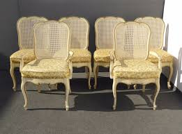 Thomasville Wingback Chairs Six Vintage Thomasville French Country Provincial Off White Cane