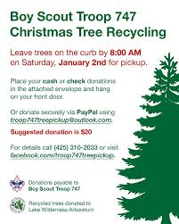 boy scout troop 747 christmas tree pickup fundraiser maple