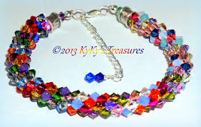 multi braid bracelet images Color burst swarovski crystal braided bracelet multi colored JPG