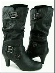 womens fashion boots size 11 xoxo size 11 m black faux fur boots wedge womens in box