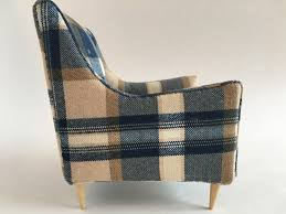 kathleen hancock blue plaid bendt side chair 1 6 scale