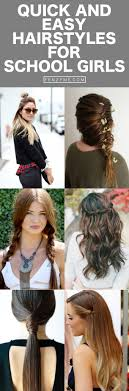 easy hairstyles for school trip 42 quick and easy hairstyles for school girls
