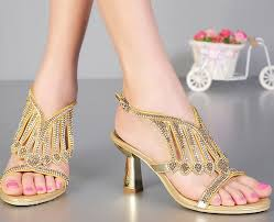 wedding shoes gold color summer new fashion wedding shoes gold color wedges heels shoes