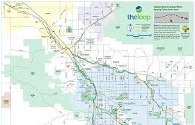 University Of Arizona Map by Bicycle Path The Loop In Tucson Southernarizonaguide Com