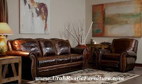 Leather Sofa Sleeper Sale Rustic Leather Hide A Way Bed And Sleeper Sofas