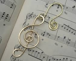 treble clef brass music ornament music note christmas
