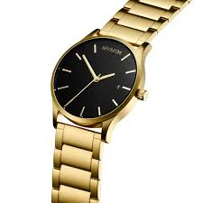 Watch by Men U0027s Black And Gold Watch By Mvmt Join The Mvmt