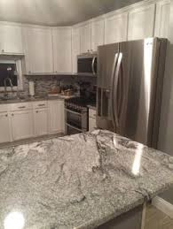 White Kitchen Cabinets With Granite Countertops River White Granite Countertop River White U2013 Polished