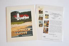 Massachusetts travel printer images Chatham light alan claude jpg