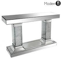 Venetian Mirrored Console Table Details About Crushed Diamond Mirrored One Drawer Console Table