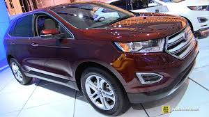 Ford Edge Interior Pictures 2015 Ford Edge Titanium Fwd Exterior And Interior Walkaround