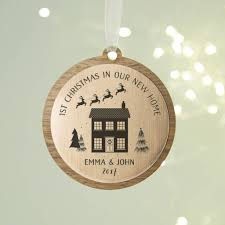 personalised new home christmas decoration by norma u0026dorothy