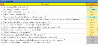 project checklist templates excel and word template free