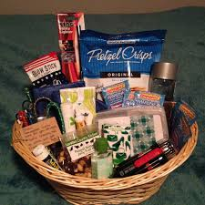 road trip gift basket for friends heading out onto the open road