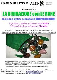 libreria esoterica cesenatico seminario pratico la divinazione con le rune a ravenna 22 10 2016