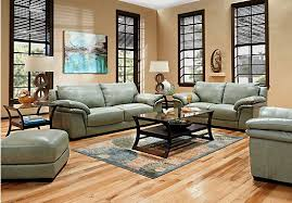 Rooms To Go Living Room Set Shop For A Bella Lago Seafoam 7 Pc Leather Living Room At Rooms To