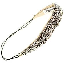beaded headband rhinestone beaded headband with metallic and