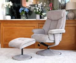 Fabric Swivel Chairs by Biarritz Mist Fabric Swivel Chair And Foot Stool Just Armchairs