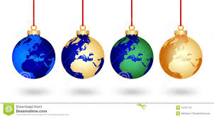 world christmas four christmas world balls stock photos image 15797713