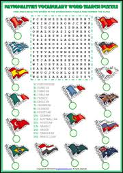 word search nationalities printable nationalities esl word search puzzle worksheet for kids nydia