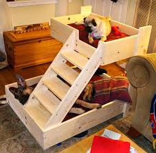 dog beds with stairs hair ideas