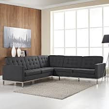 le corbusier modern loft series l shaped sectional sofa in wool