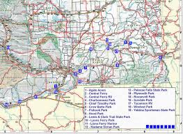 Washington State Map With Cities by Southeast Washington Rv Camping And Tent Camping Guide
