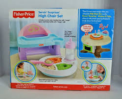 Fisher Price Servin Surprises Kitchen Table by Fisher Price Servin Surprises High Chair Set What U0027s It Worth
