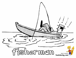 coloring fisherman coloring pages