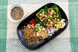 cuisine thailandaise traditionnelle apéritif de taille feuille enveloppé de morsure une cuisine