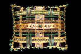 Designer Pillows Blue Decorative Pillows Wayfair Aguilar Cotton Throw Pillow Haammss