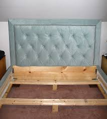 Bed Box Spring Frame Remodelaholic Upholstered Headboard U0026 Bed Frame