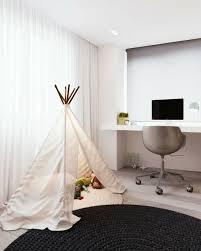 chambre fille noir et blanc design interieur chambre enfant fille tente tapis ronds noir blanc