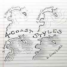 How To Draw The Usa Map by 4 Coast Styles For Mapmaking Smooth Water And Shorts